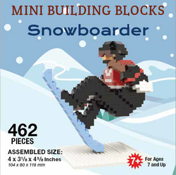 Mini Building Block Snowboarder