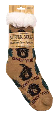 CLASSIC Smokey Brown Slipper Socks