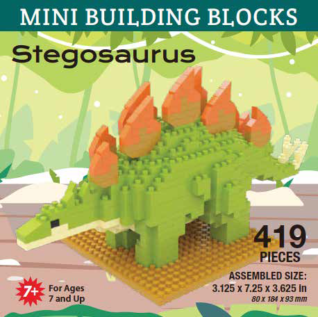 Mini Building Block Stegosaurus