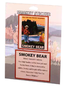 Smokey RETRO RANGER Park Sticker