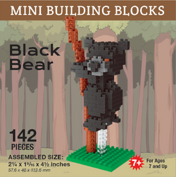 Black Bear Mini Building Blocks