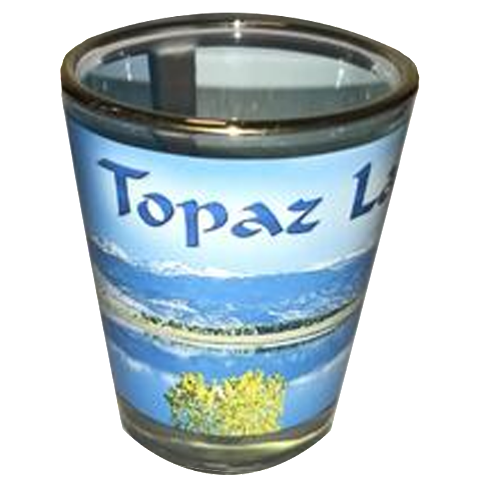 Topaz Lake Shot Glass