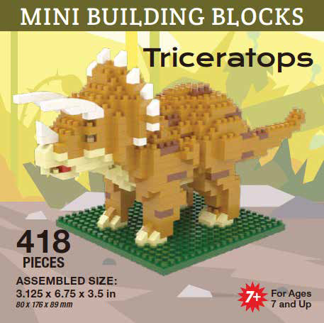 Mini Building Block Triceratops