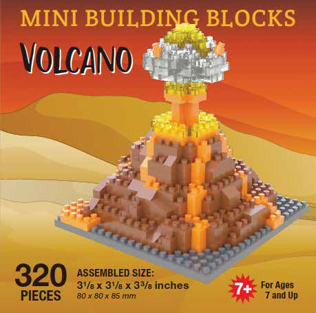 Mini Building Block Volcano Eruption
