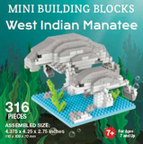 Mini Building Block West Indian Manatee