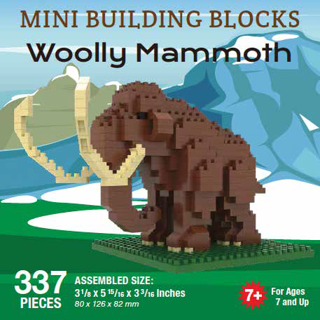 Mini Building Block Woolly Mammoth