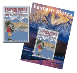 Eastern Sierra Fisherman Hiking Medallion