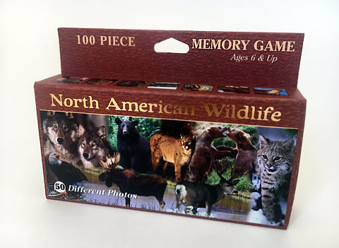 North American Wildlife Travel Memory Game
