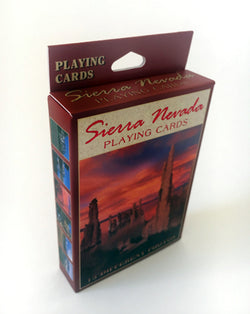 Sierra Nevada Sunset Playing Cards Mono