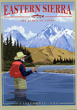 Eastern Sierra Fishing Poster