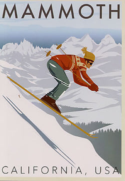 Mammoth Lakes Skier Poster