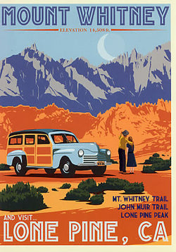 Mt. Whitney Retro Poster