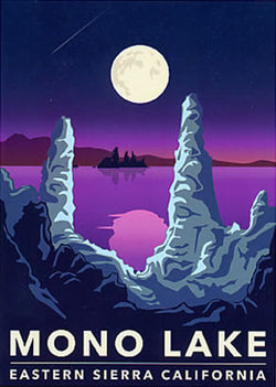 Mono Lake Retro Sticker