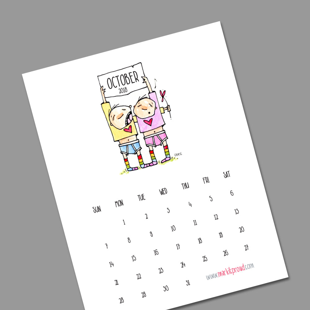 Hang It Proud: Download Your FREE October Wall Calendar