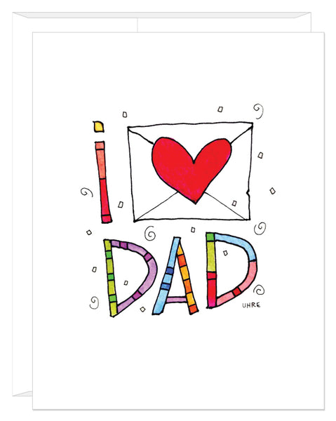 I Heart Dad Father's Day Card