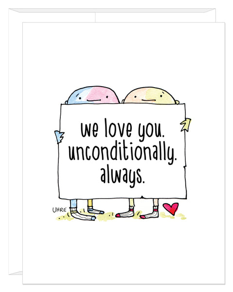 PFLAG Unconditional Love card