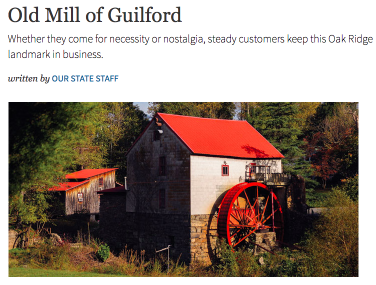Publicity Old Mill Of Guilford