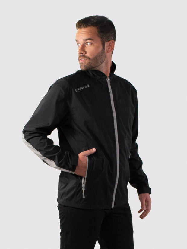 Black/Gray All-Weather Jacket - front