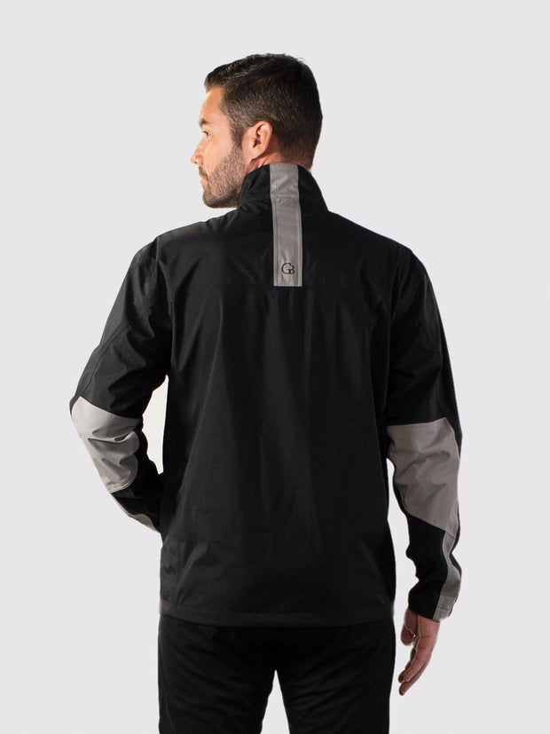 Black/Gray All-Weather Jacket - back
