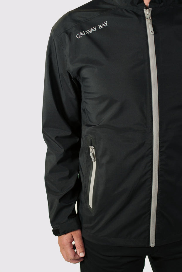 Black/Gray All-Weather Jacket - branding shoulder