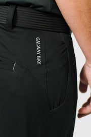 Black Unlined Pants - rear logo