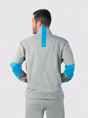 Gray/Blue All-Weather Jacket - back