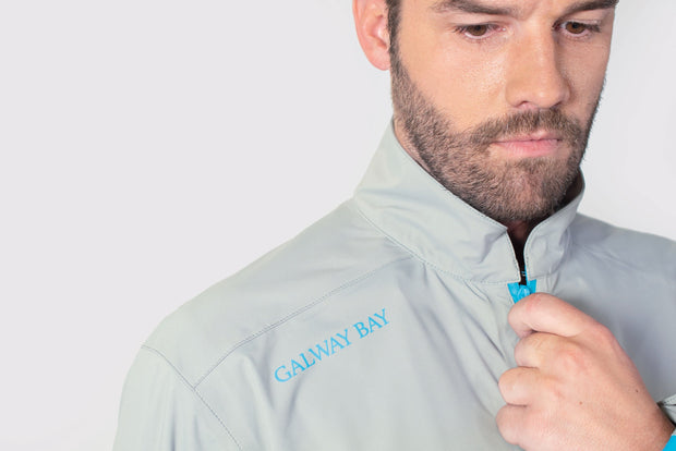 Gray/Blue All-Weather Jacket - branding shoulder