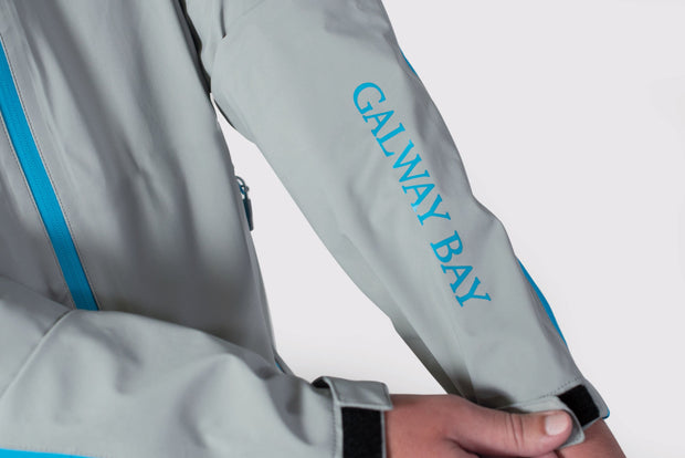 Gray/Blue All-Weather Jacket - branding sleeve