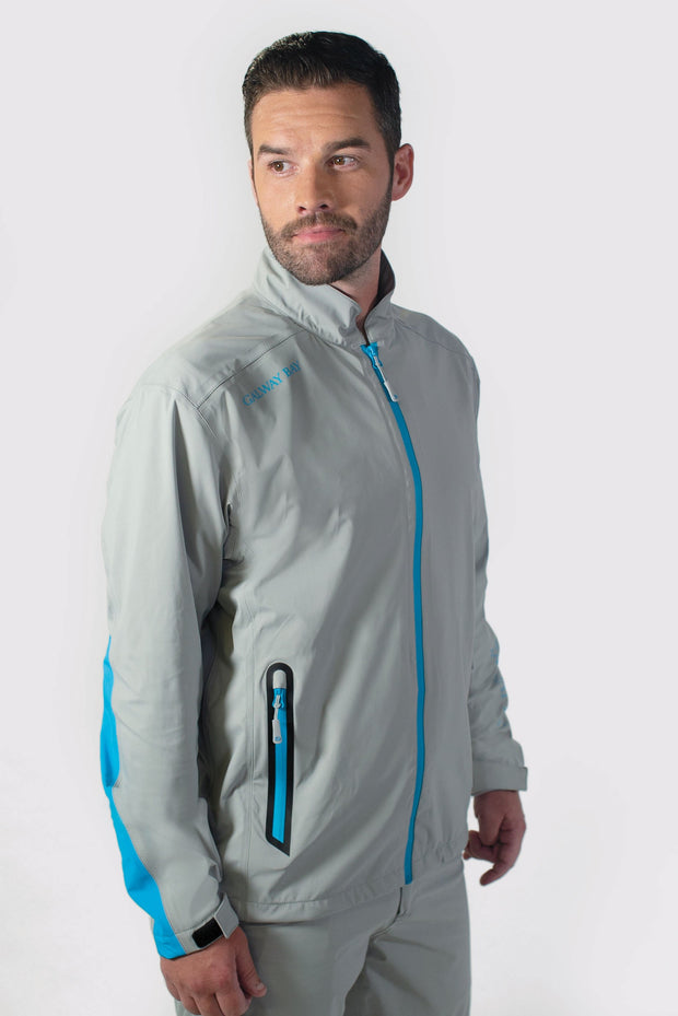 Gray/Blue All-Weather Jacket - side