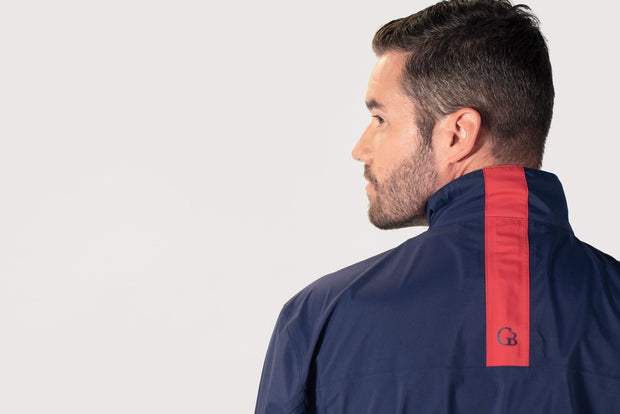 Navy All-Weather Jacket - back stripe detail