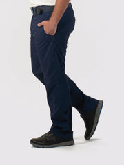 Navy unlined pants side