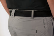 Gray Lined Pants - belt loop