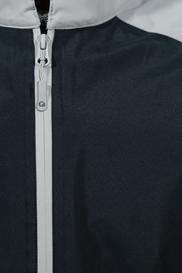 Black/Gray Pullover - pocket zipper