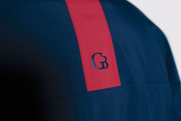 Navy All-Weather Jacket - back logo