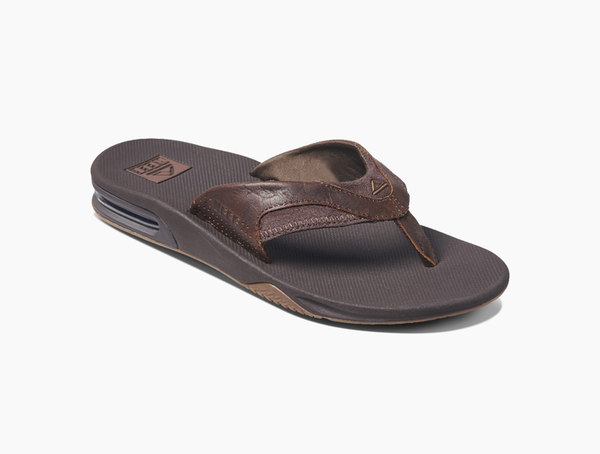 Reef Men's Leather Fanning Flip Flop