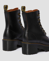 Dr. Martens Women's Leona Vintage Smooth Leather Heeled Boots