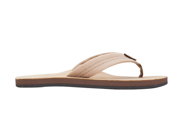 Rainbow Men's Single Layer Premium Leather Flip Flop