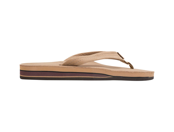 Rainbow Women's Double Layer Premium Leather Flip Flop