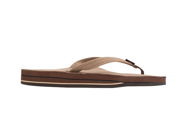 Rainbow Women's Double Layer Premium Leather Thin Strap Flip Flop