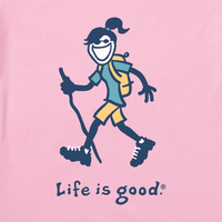Life is Good Women's Vintage Crusher Tee - Hike Jackie