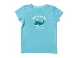 Life is Good Girl's Crusher Tee - Be Happy Whale