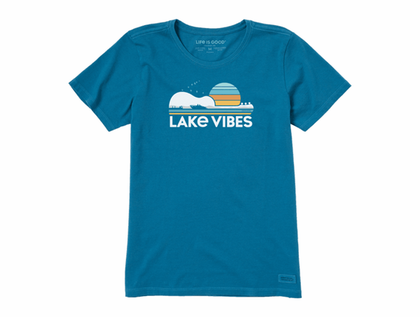 Life is Good Women's Crusher Tee - Guitar Lake Vibes