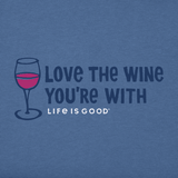 Life is Good Women's Crusher Tee - Love the Wine