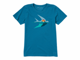 Life is Good Women's Crusher Tee - Bird's Eye View