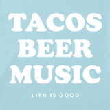 Life is Good Women's Cool Tee - Tacos, Beer, Music