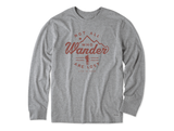 Life is Good Men's Long Sleeve Crusher Tee - Wander Hike