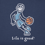 Life is Good Kid's Vintage Crusher Tee - Basketball Jake