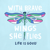 Life is Good Kid's Long Sleeve Crusher Tee - Brave Wings