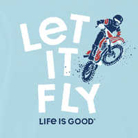 Life is Good Kid's Crusher Tee - Let It Fly Dirt Bike
