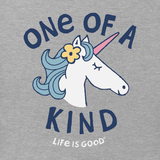 Life is Good Toddler's Crusher Tee - One of a Kind Unicorn